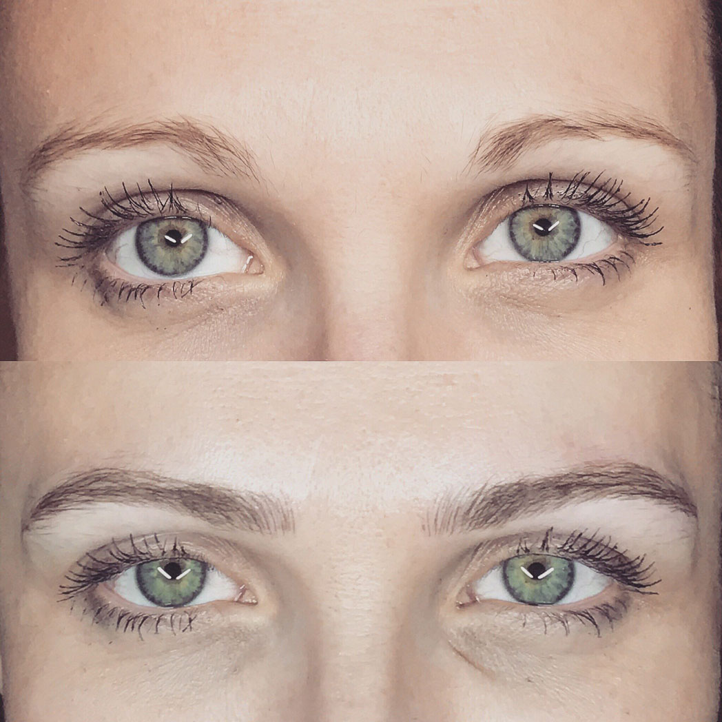 Microblading Before and After by iBrowink Boutique