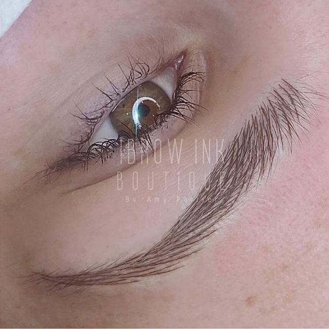 Microblading defined brows