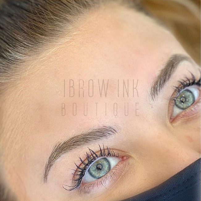 Microblading perfectly defined brows