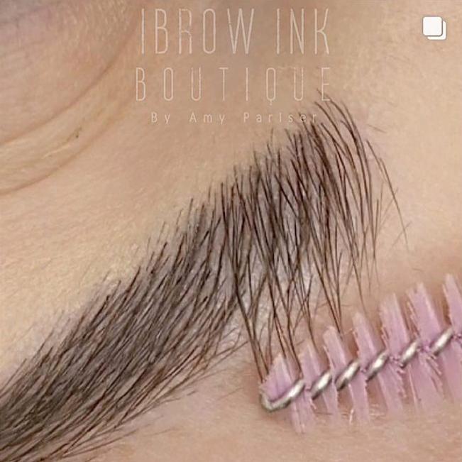 Microblading perfect brow strokes