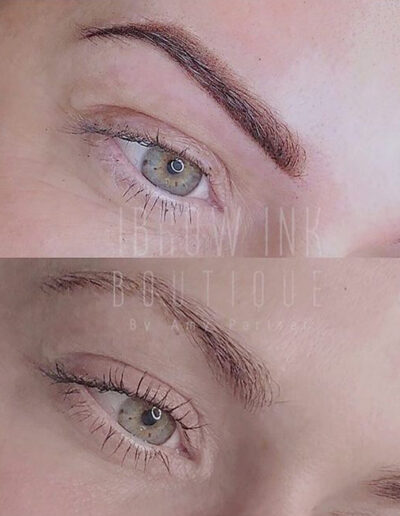 Ombré Brows before and after pic