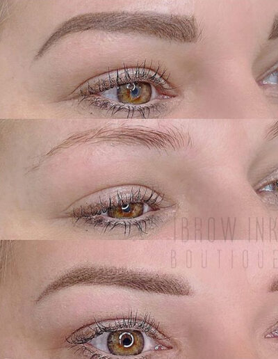 Ombré Brows before and after